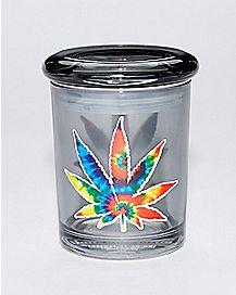 Tie Dye Pot Leaf Storage Jar