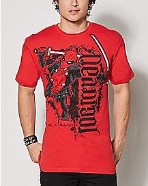 Ambigram Mercenary Deadpool T Shirt - Marvel Comics