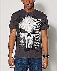 Ambigram Frank Castle The Punisher T Shirt - Marvel Comics