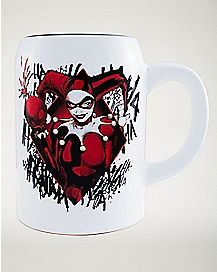 Harley Quinn Stein Mug 22 oz. - DC Comics