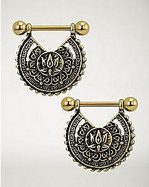 Mandala Nipple Shields - 14 Gauge