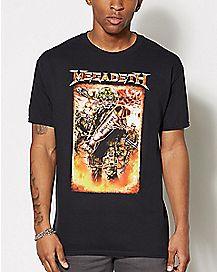 Megadeth Camo Logo T Shirt