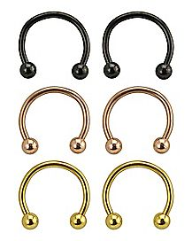 Horseshoe Rings - 16 Gauge - 6 Pack