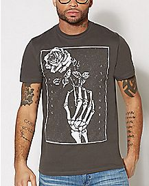 Skeleton Rose Asking Alexandria T Shirt