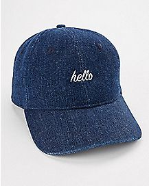 Hello Denim Dad Hat