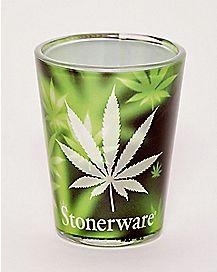 Fog Pot Leaf Shot Glass - 1.5 oz