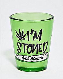 Stoned Not Stupid Shot Glass - 2 oz.