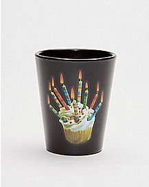 Happy F'ing Birthday Cupcake Shot Glass - 1.5 oz.