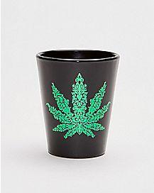 Foil Pot Leaf Shot Glass - 1.5 oz.