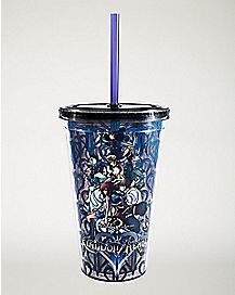 Kingdom Hearts Cup with Straw and Ice Cubes - 16 oz