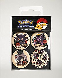 Evolution Gengar Buttons 4 Pack - Pokemon