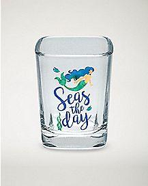 Mermaid Seas The Day Shot Glass - 2.25 oz