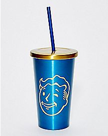 Vault Boy Cup with Straw - Fallout