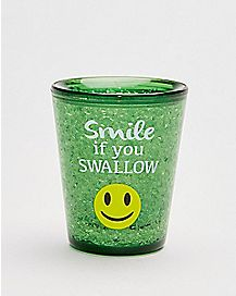 Smile If You Swallow Freezer Gel Shot Glass - 1.5 oz.