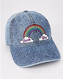 Rainbow Fuck You Dad Hat
