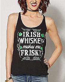 Irish Whiskey Makes Me Frisky St. Patrick's Day Tank Top