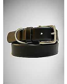 Black Beveled Belt