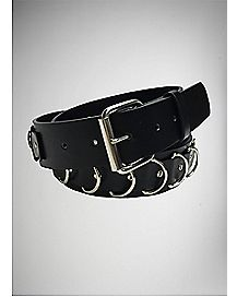 Black Bondage Ring Belt