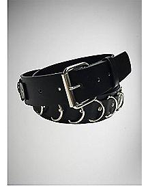 Black Bondage Ring Belt