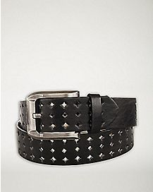 Triple Diamond Studded Belt