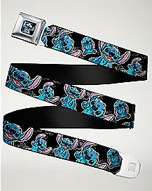 Floral Stitch Seatbelt Belt - Lilo & Stitch