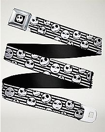 Jack Skellington Faces Seatbelt Belt - Nightmare Before Christmas