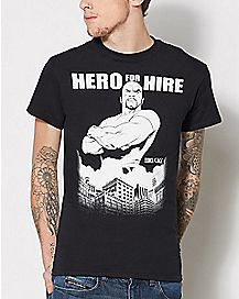 Luke Cage Heroes For Hire T Shirt