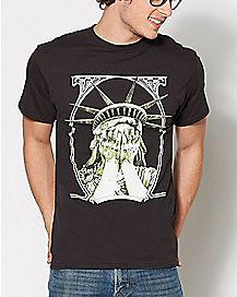 Sad Statue of Liberty T Shirt