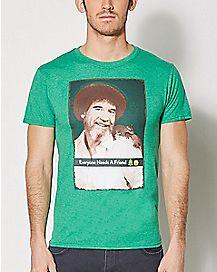 Everyone Needs A Friend T Shirt - Bob Ross