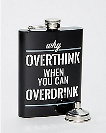 Overthink Overdrink Steel Flask - 8 oz.