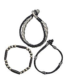 Rope Bead Bracelets - 3 Pack