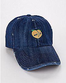 Peach Eat It Dad Hat