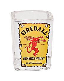 Square Fireball Shot Glass - 1.5 oz.