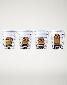Mug Shot Minions Shot Glasses 4 Pack - 1.5 oz