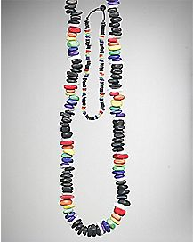 Rainbow Puka Chip Necklace