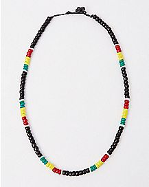 Beaded Rasta Necklace