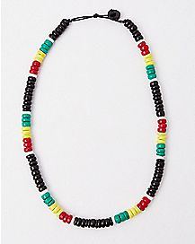 Black Rasta Beaded Necklace