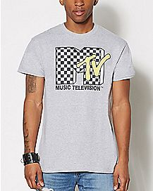 Checkered MTV T Shirt