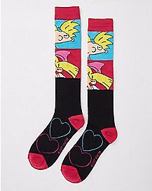 Arnold and Helga Knee High Socks - Hey Arnold!