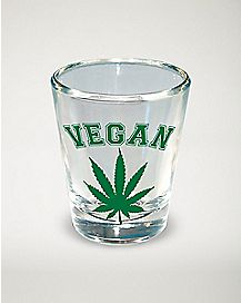 Vegan Pot Leaf Shot Glass - 1.5 oz.