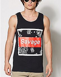 Bandana Savage Tank Top
