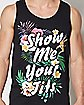 Floral Show Me Your Tits Tank Top