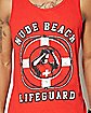 Nude Beach Life Guard Tank Top