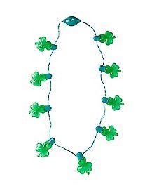 Light Up Shamrock Necklace