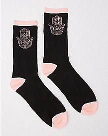 Hamsa Hand Crew Socks