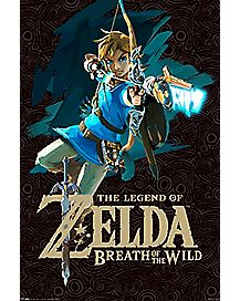 Link Bow And Arrow Poster - Legend Of Zelda Breath Of The Wild