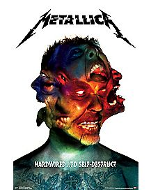 Hardwired to Self Destruct Poster - Metallica