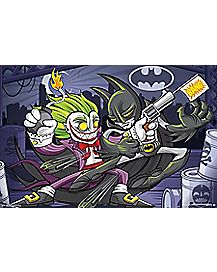 Joker vs Batman Cartoon Poster - DC Comics