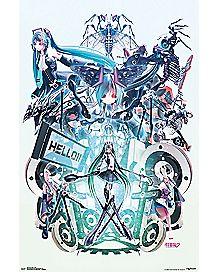 Hello Poster - Hatsune Miku