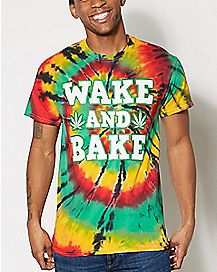 Wake and Bake Tie Dye T Shirt
